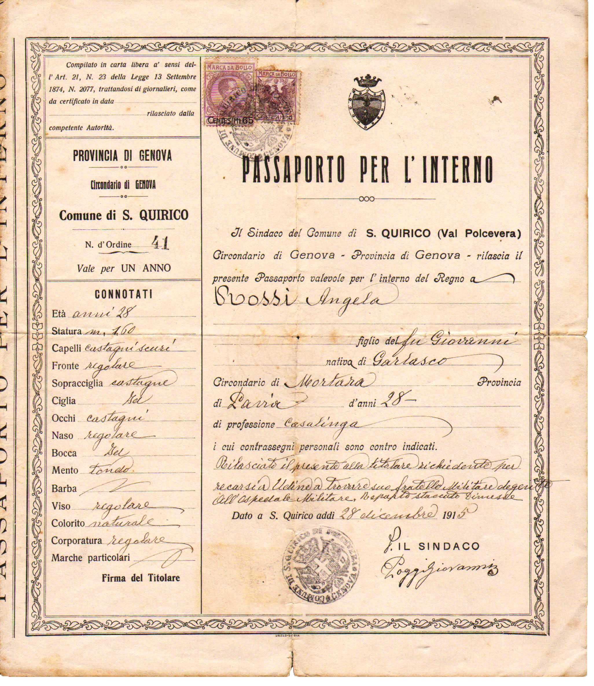 dettagli sul passaporto per l\'aggiornamento dell ...